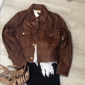 NWT Michael Kira leather jacket M